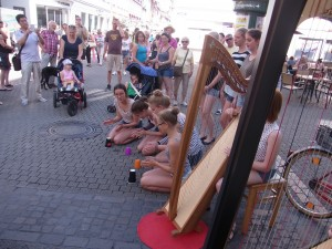 Straßenmusik in Heidelberg